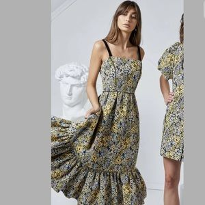 ELLIATT ALESSIA VERNAZZA JACQUARD MIDI DRESS